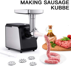 Electric Meat Grinders with Food Grinder, Sausage & Kubbeh