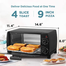 COMFEE' Toaster Oven Countertop, 4-Slice, Compact Size, Easy to Control