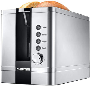 Chefman 2-Slice Pop-Up Stainless Steel Toaster w/ 7 Shade Settings
