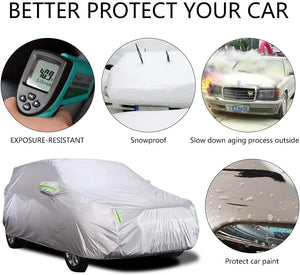Car Cover, SUV Protection Cover Breathable Outdoor Indoor for All Season All Weather