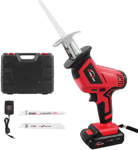 Cordless Reciprocating Saw Kit,with Reciprocating Blade, Variable Speed, Battery,Fast Charger, Carrying case.