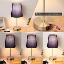 Touch Control Table Lamp Navy Blue.