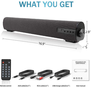 Sound Bar for TV/PC Audio Soundbar with Built-in Subwoofer