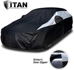 Waterproof Car Cover Measures 200 Inches, Comes with 7 Foot Cable and Lock.