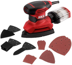 Corded Multi-Function Detail Sander with 12Pcs Sanding Paper..