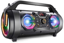 30W Portable Bluetooth Boombox with Subwoofer