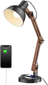Swing Arm Desk Lamp with Wireless Charging