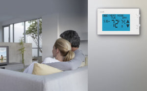 Programmable Large Touchscreen Heating Cooling Thermostat, White.