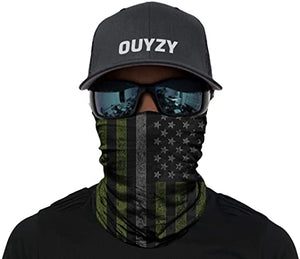 US Flag Theme Designed Polyester Multifunction UV protection Face Mask Balaclava Headwrap Bandana Motorcycle Neck Gaiter