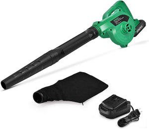 20V Cordless Leaf Blower Double Length Blow Tube, Powered Handheld Lightweight Clean Machine.