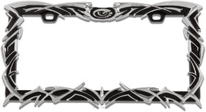Handcrafted Black Chrome Tribal License Plate Frame