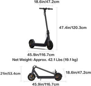 MAX Electric Kick Scooter, Max Speed 18.6 MPH, Long-range Battery