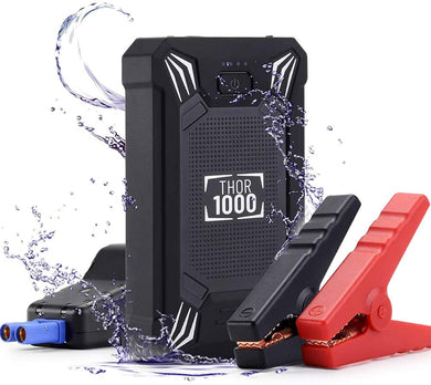 Car Jump Starter, 2500A Peak 23800mAh Car Battery Jump Starter, Portable Wireless Charger with LED Flashlight, EC5 Cigarette Lighter, Safety Hammer, LCD Screen