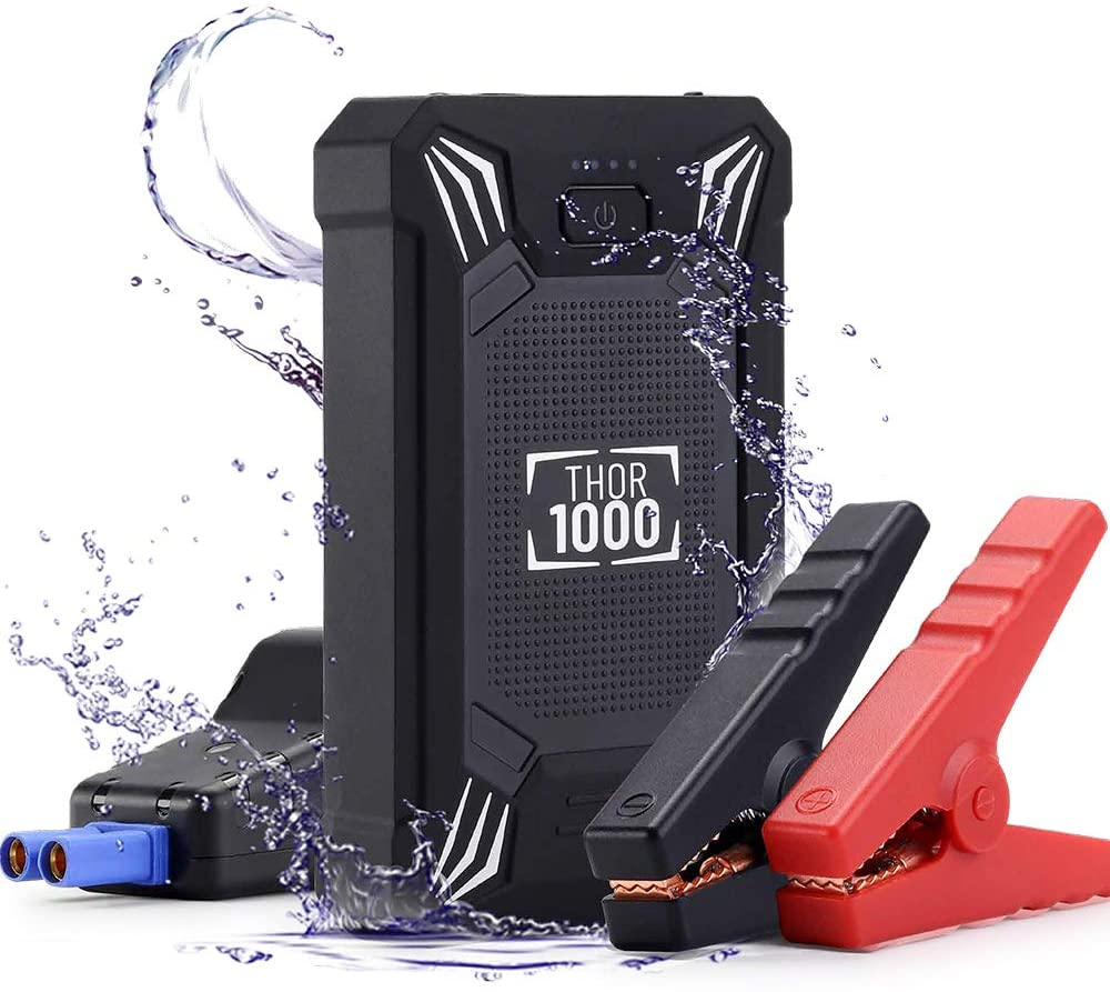 Portable 2500A Car 12V Battery Jump Starter With LED Flashlight