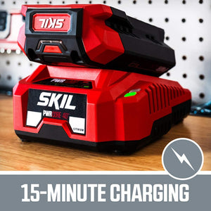 40V Chainsaw Kit Includes 2.5Ah Battery and Auto PWR Jump Charger.