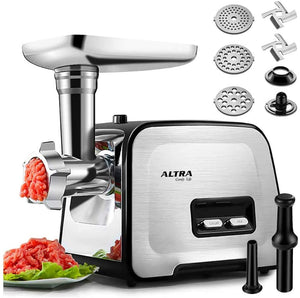 Powerful ALTRA Electric Food Meat Grinder, Heavy Duty Multifunction Meat Mincer