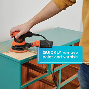 Random Orbit Sander, 5-Inch, 2.4-Amp, 3.01 pounds.