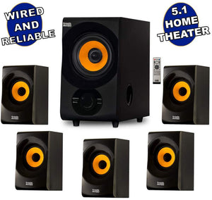 Acoustic Audio AA5170 Home Theater 5.1 Bluetooth Speaker System 700W