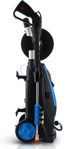 Electric Pressure Washer Power Washer Machine 1800W High Power Washer with Soap Bottle and Hose Reel