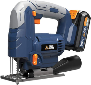 20V MAX cordless jig saw with lithium battery and charger, Variable speed.