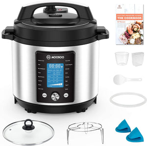 MOOSOO 15-in-1 Electric Pressure Cooker, 6 Quart Perfect for Canning
