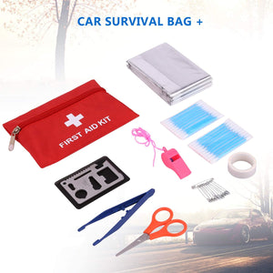 Adakiit Car Emergency Kit, Multifunctional Roadside Assistance Auto Safty Kit