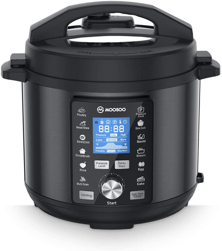 6 Quart, 304 Stainless Steel Slow Cooker, Steamer, Rice Cooker, Cake Maker,]