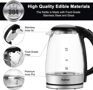 Electric Kettle Temperature Control Glass Hot Water