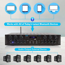 Wireless Home Audio Amplifier System - Bluetooth Compatible Sound Stereo