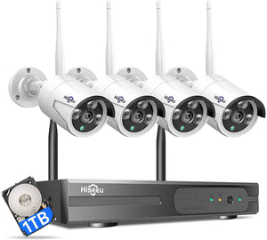 Wireless Security Camera System with 1TB Hard Drive, 2.0MP Night Vision.