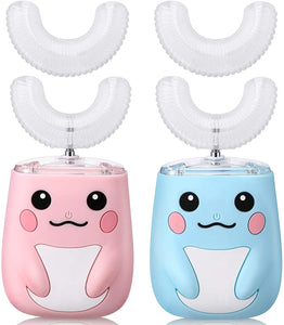 2 Pieces Kids U Shaped Electric Toothbrush, Ultrasonic Automatic