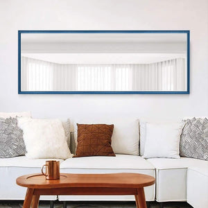 "Large Rectangle Standing Mirror / Color: Dark Blue-Size: 65""x 22"""