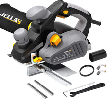 Electric Planer With  Dual-dust out System, 2 Rubber Belt and Carbon Brushes,