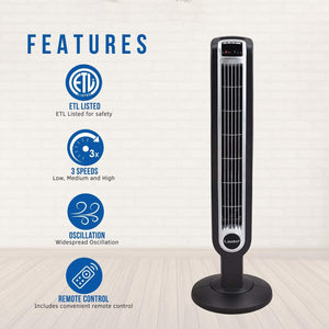 2511 36″ Tower Fan with Remote Control