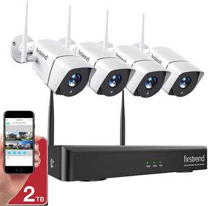 Wireless Security Camera System, 65ft Night Vision and Easy Remote Monitoring.