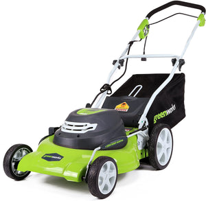 20-Inch 3-in-1 12 Amp Electric Corded Lawn Mower, 56 pounds..
