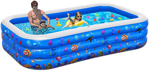 "Inflatable Pool for Adults, 2021NEW Kiddie Pool, 96""X56""X22"" Plastic Baby Pool"