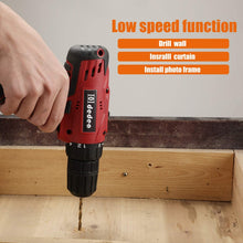 Cordless Hammer Drill Tool Kit, with 16.8V Lithium Driver Claw Hammer Wrenches Pliers.