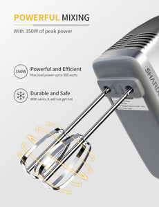 Hand Mixer 350W Power Advantage Electric Handheld Mixers with 5 Stainless Steel