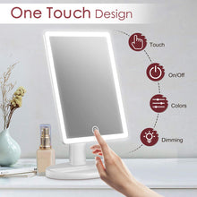 Magnification, Lighted Vanity Mirror with Mini 10X Magnifying Mirror, Touch Control Design,