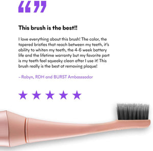 BURST Electric Toothbrush with Charcoal Sonic Toothbrush Head