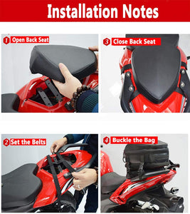 Tear Resistant Motorcycle Nylon Luggage Meago Multi-functional Sport Seat Tail Bag