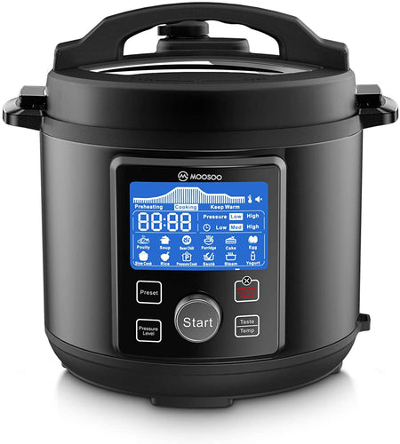MOOSOO 12-in-1 Electric Pressure Cooker, Instant Digital Pressure Pot