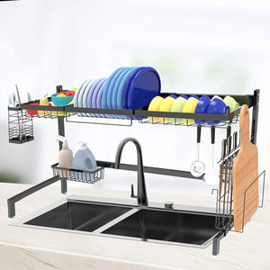 Over Sink Dish Drying Rack Black- Shop Again Large Dish Rack Drainer