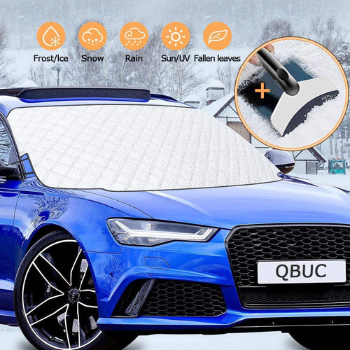 Windshield Cover for Ice and Snow for Car with 4 Layers Protection