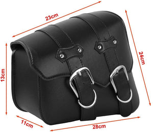 INNOGLOW Motorcycle Waterproof Saddle bags Side Bags PU Leather for Harley Sportster