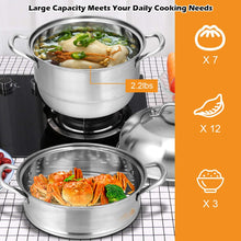 Giantex 3-Layer Stainless Steel Steamer Pot for Cooking