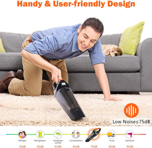 Mini Vacuum Cleaner with Strong Suction for Pet Hair, Home and Car Cleaning