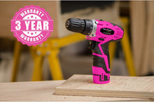Pink Power 12V Cordless Drill & Driver Tool Kit for Women-Battery & Charger.