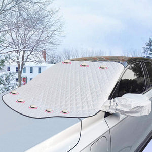 Windshield Snow Ice Cover Magnetic Edges Car Windshield Protector for Car Trucks Vans